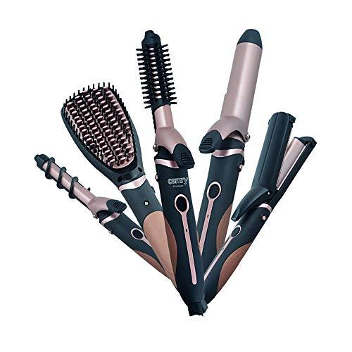 CAMRY CR 2024 Lockenstab Set, 5 in 1, Lockenwickler mit verschiedenen Aufsätzen - 19mm, 32mm, Haarglätter Bürste, zum Locken, Wellen, Glätten, Welleisen mit bequemem Griff