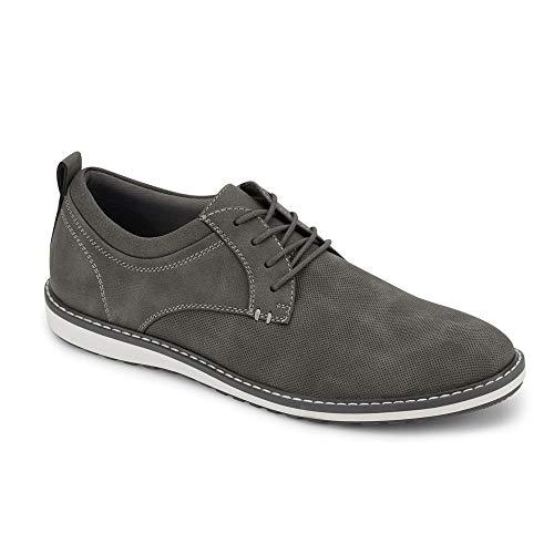Dockers Mens Braxton Casual Oxford Shoe, Grey, 10.5 M