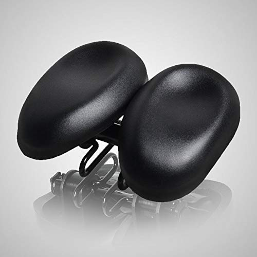 ZHTY Oversized Comfort Bike Seat, Most Comfortable Extra Wide Soft Foam Padded Wide Saddle Seat Road MTB Moutain Bike Wide Soft Pad Comfort Cushion