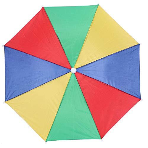 Paraguas Sombrero Colorido Manos Libres Paraguas Gorra Plegable Impermeable Sombra portátil para...