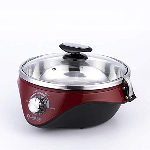 WJJJ Hot Pot Split Hot Pot Électrique Multi-Fonction Grande Capacité Cuisinière Électrique Cuiseur À Vapeur Électrique Poêle Électrique pour la Maison
