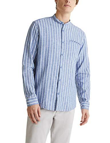 ESPRIT Herren 030EE2F303 Hemd, 432/BLUE 3, L