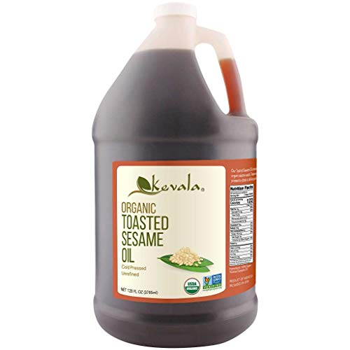 Kevala Organic Toasted Sesame Oil, 1 Gallon (128 Fl Oz)