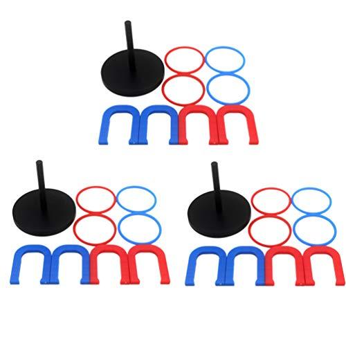 LIOOBO 3 Sätze Kinder Ring Werfen Ringwurfspiel Ringspiel Wurfspiel mit Wurfringe für Kinder Erwachsene Outdoor Indoor Spielzeug