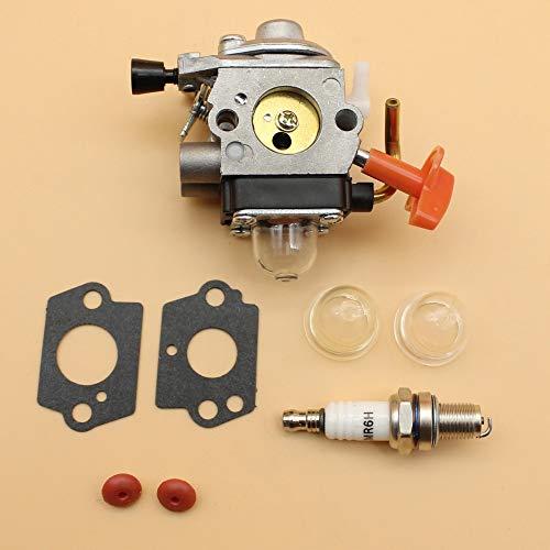 Beixi Zeit Vergaser Rückschlagventil Primer Bulbs Zündkerze Set Fit for STIHL FS 100 110 87 90 HL 100 HT 100 101 KM 100 90 SP 90 4-Takt-Trimmer