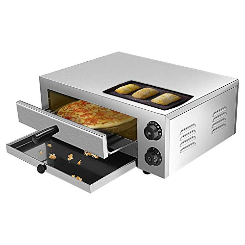 Vogvigo 12'' Electric Countertop Pizza Oven, Stainless Steel Commercial Pizza Oven Deluxe Pizza and Multipurpose Oven,for Restaurant Home Pizza Pretzels Baked Roast Yakitori Commercial & Kitchen Use