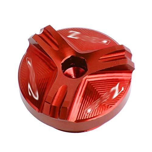 GUIFUG Casquillo del Aceite de llenado de Aceite del Motor de la Motocicleta CNC Tapón de Drenaje Accesorios/Fit for Kawasaki Z750 Z750 Z 750 2004-2010 2006 2007 2008 2009 (Color : Red)