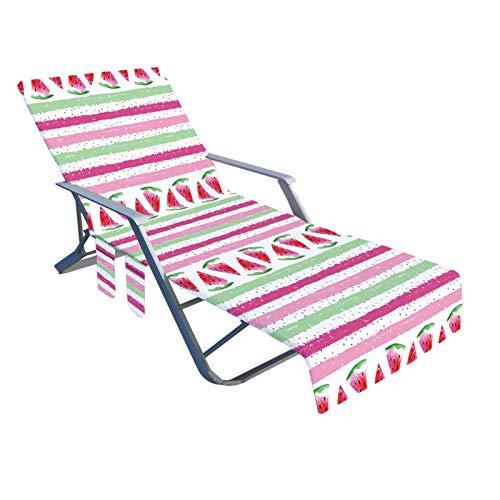 Funda para silla de playa, funda para tumbona de piscina suave y cómoda con bolsillo de almacenamiento lateral, para la mayoría de sillas de ocio y sillas de piscina, 82,6 x 28,7 pulgadas
