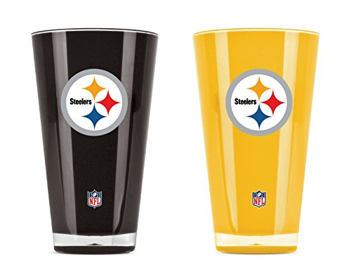 NFL Pittsburgh Steelers 20oz Insulated Acrylic Tumbler Set of 2