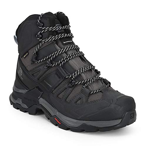Salomon Men's Quest 4 GTX Hiking, Magnet/Black/Quarry, 12.5