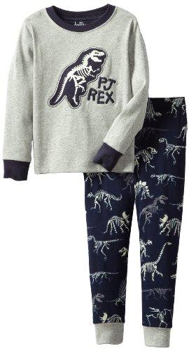 Hatley Jungen Pj Set (App) - Dino Bones Zweiteiliger Schlafanzug, Mehrfarbig, 92