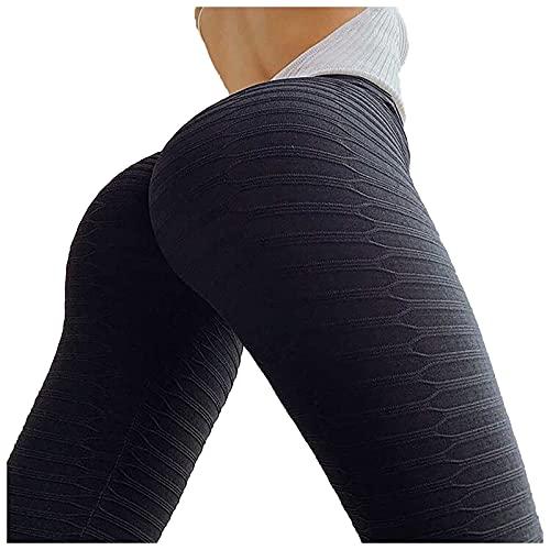 Leggings de cintura alta para mujer, para gimnasio, fitness, correr, control de barriga, pantalones básicos de yoga