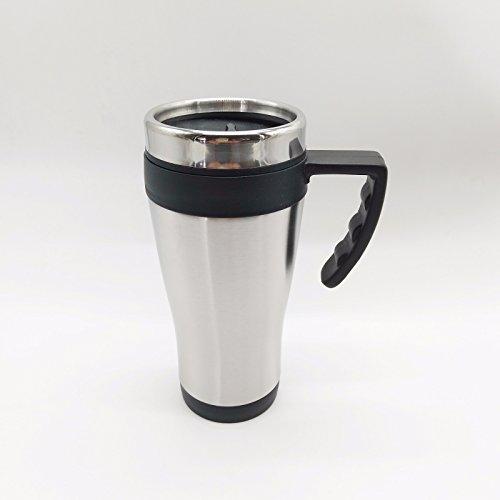 V Produkte Edelstahl Thermobecher Isolierbecher Coffee to Go Kaffeebecher 450ml, XL mit Griff