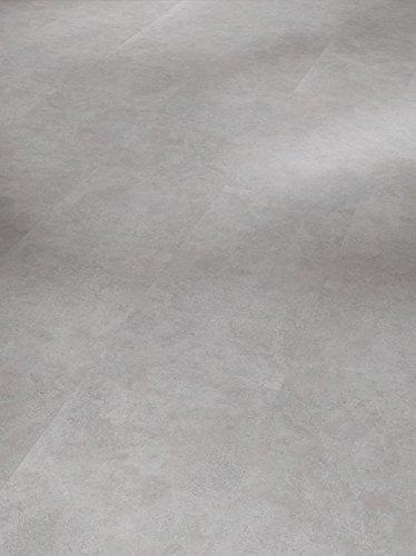 Parador Klick Vinyl Bodenbelag Basic 4.3 Fliese Beton Grau mit Steinstruktur 1,934m², hochwertige Steinoptik dunkel grau 4,3mm, einfache Verlegung