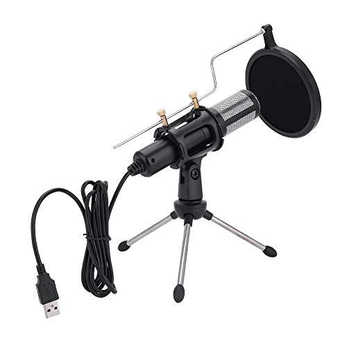 Microfoonkit, microfoonstandaard computer microfoonset condensator microfoon set met standaard popbescherming geschikt voor studio en radio opnames (15,5 × 3 cm)