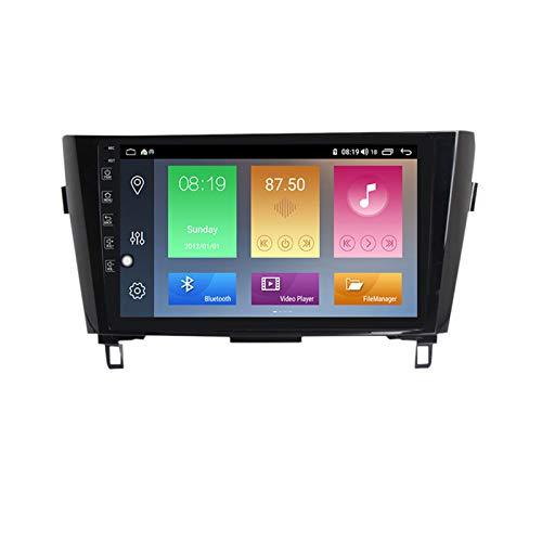 ADMLZQQ Radio de Coche Navegación GPS, 10 Pulgadas 2 DIN para Nissan X-Trail 2013-2017 con Bluetooth Carplay DSP SWC RDS AUX Soporte USB Control Volante Cámara Marcha atrás Monitor reposacabezas,M400