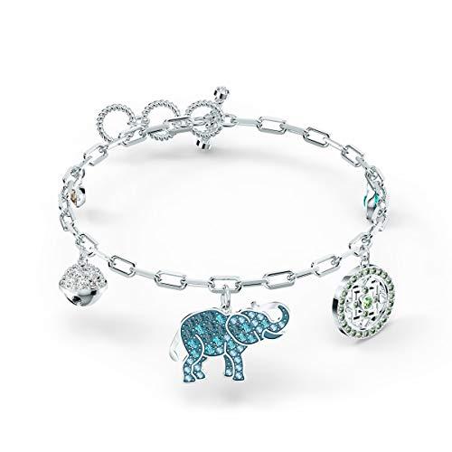 SWAROVSKI Women's Symbolic Elephant Bracelet, Light multi-colored, Rhodium plated