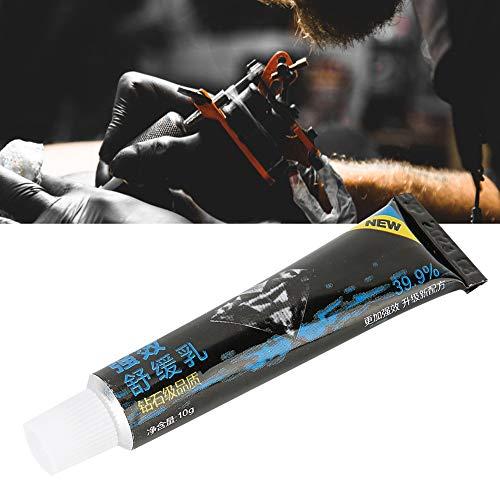 Crema para entumecer tatuajes, 10 g Crema entumecedora de acción rápida Crema entumecedora para tatuajes, gel para reparación de cicatrices, ungüento para tatuajes, accesorio para el cuidado posterior