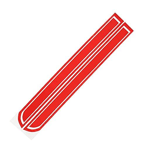 X AUTOHAUX 51.77'x9.72' Coche Capó Raya Pegatina Decoración para Coche Rojo 1 Par