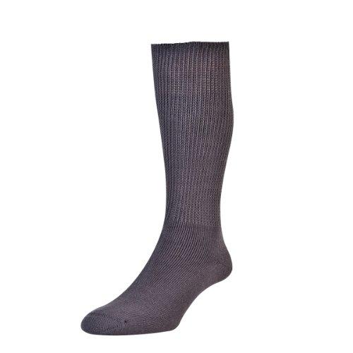 HDUK Mens Socks HJ Hall Health Reihe hj1351Baumwolle Diabetiker Socken/erhältlich in den Größen 4–7, 6–11& 11–13 Gr. Large, Grau - Grau