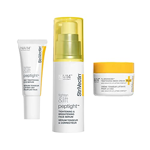 StriVectin Power Starters Tighten & Lift Trio for Face, Eye and Neck, with Niacin and Vitamin B3, Full-Size Routine