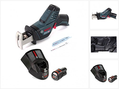 Bosch GSA 12V-14 Professional Akku Säbelsäge Solo im Karton L-Boxx ready + 1x 2,0 Ah Akku + GAL 1230 CV Ladegerät