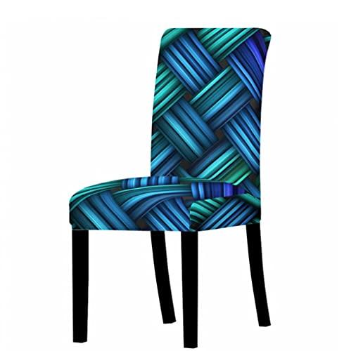 Elastene Copertura della sedia universale elastica elastica per sala da pranzo sedia copre banchetto cucina matrimonio 3D tessuto modello