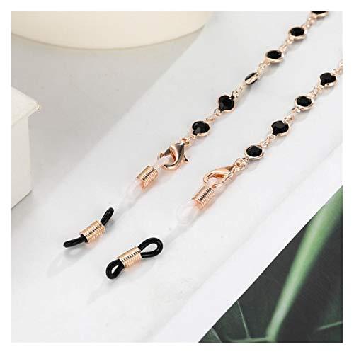 DZJUKD Práctico Cadena de Cuello de Cuello de Cristal para Las Mujeres con Cuentas de Gafas de Sol Cadenas Láyectos Lávegas Correa Correa Color de Oro Cuerda de Metal para Mujeres Mayores