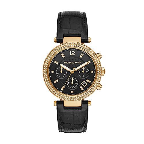 Montre Parker de Michael Kors chronographe en acier inoxydable dorée pour femme, MK6984