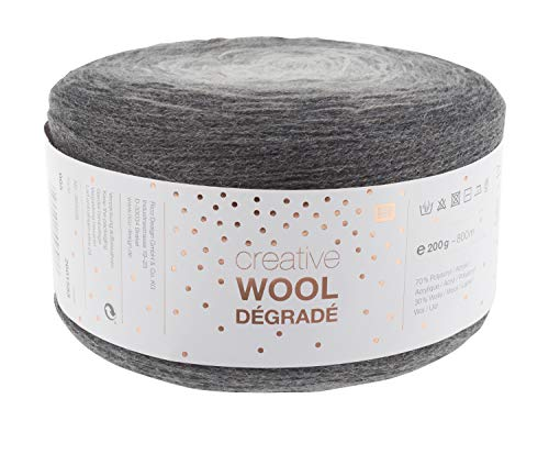 Rico Wolle Creativ Wool Dégradé 200g 4-fädig Grau