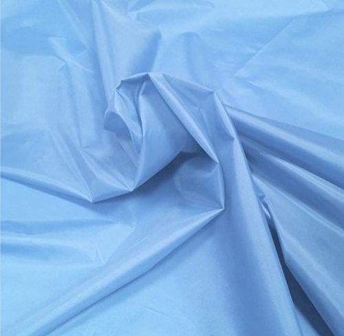 A-Express Himmelblau 1x Metre Nylon Stoff Wasserdicht Planen-Stoff Nylonstoff Meterware