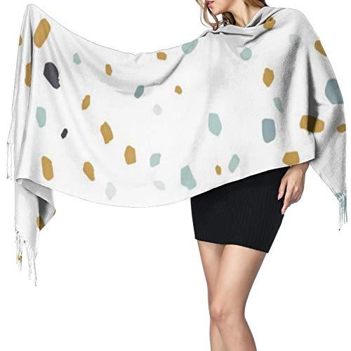 Bufandas de mujer invierno largo suave y cálido textura de terraza o azulejo patrón sin costuras cachemira-como pashmina chales envuelve borla chal estola bufanda