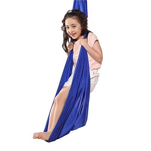 YANFEI Juego de columpio de nailon para niños con autismo, ADHD, Aspergers (color: azul, tamaño: 100 x 280 cm)