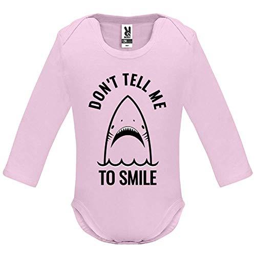 Body bébé - Manche Longue - Don t Tell me to Smile - Bébé Fille - Rose - 12MOIS