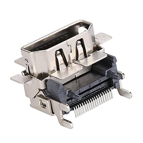 ZHANGAIGUO CCCZY Métal HDMI- Connecteur Connecteur Connecteur Connecteur Port Compatible Ajustement de la Console Xbox One S Pièces de pièces de Jeu Jeu de Joueurs 10x10x10mm