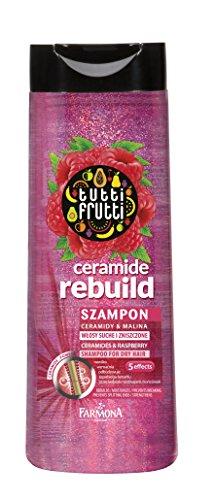 Lashuma Ceramide Shampoo für Trockenes Haar, Tutti Frutti Himbeere 400 ml, Regeneriert - Aufbauend - Verhindert Spliss und stärkt