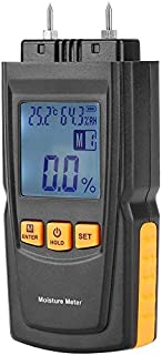 Humidimètre Digital LCD Handheld Eau Humide 2 Broches Humier Detector Detector pour Papier de Chauffage Humidité Scanner