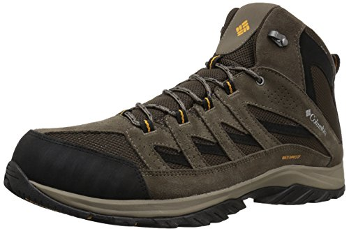 Columbia Men's Crestwood Mid Waterproof Hiking Boot, Breathable, High-Traction Grip