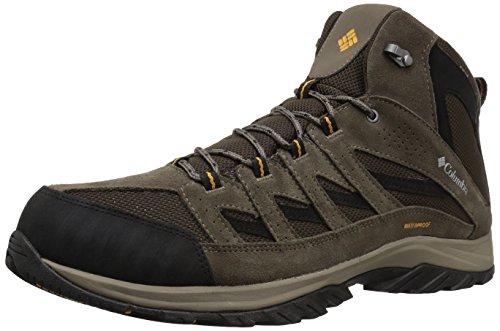 "Columbia mens Crestwoodâ""¢ Mid Waterproof Hiking Shoe, Cordovan, Squash, 16 US"