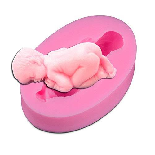 Stampo 3D per decorazioni in pasta di zucchero per torte, motivo: neonato