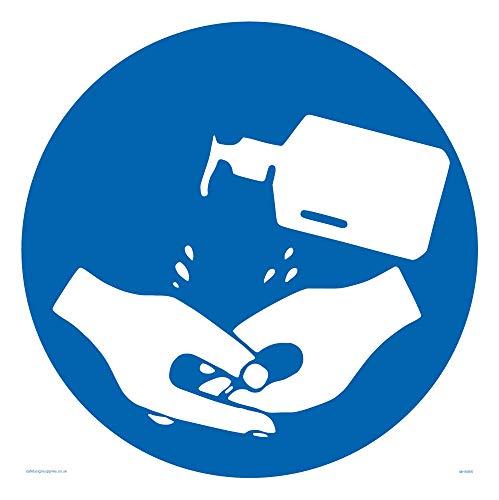 Hand Desinfektionsmittel Symbol Schild – Kunststoff starr 3 mm