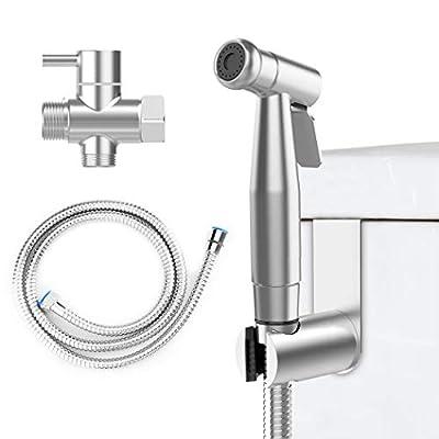 EIGSO Handheld Bidet Sprayer,Complete Premium Stainless Steel Bathroom Shattaf Sprayer Best Used for Personal Hygiene,Potty Toilet Spray (EIGSO-002)