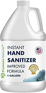 Instant Hand Sanitize Gel - Value Size Advanced Natural Hand Sanitize Cleaner Portable Aloe Vera Moisturizer Packaging May Vary (1 Gallon)