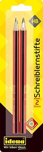 Idena 20003 - Schreiblernstift, Dreikant, Härte HB, FSC-Mix, 2 Stück