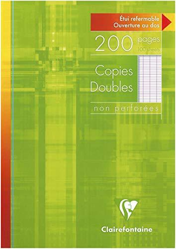 Clairefontaine 5721C Packung (mit 100 Kanzleibögen DIN A4, 21 x 29,7 cm, Seyes, französische Lineatur, ungelocht) 100er Pack weiß