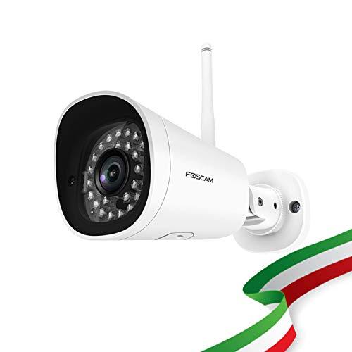 Foscam FI9902P 2 Megapixel Full HD1080P H.264 Wireless/Cavo con Visione Notturna 20 Metri, 3 W, 12 V Compatibile Con Alexa