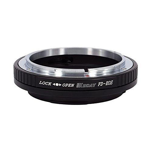 KECAY® Objektiv Adapter Ring Kompatibel mit Canon FD und FL Mount Objektiv Kompatibel mit Canon EOS EF EF-S Mount Kamera EOS 7D, 5D, 60D, Rebel T3, etc. FD-EOS