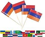 JBCD 100 Pcs Armenia Flag Toot...