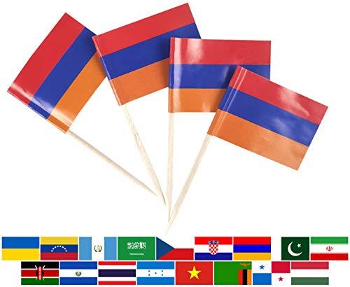 JBCD Kleine Flagge für Zahnstocher Armenien