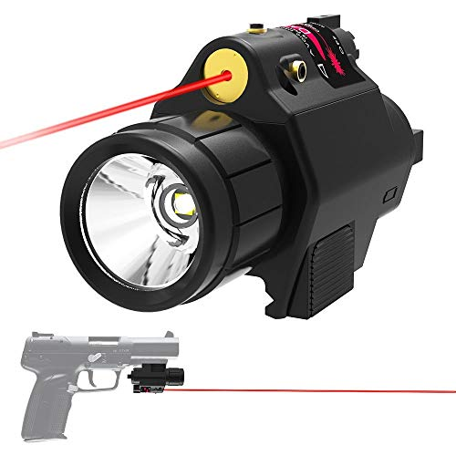 Armorguard Tactical Rail Mount Red Laser Super Bright Led Flashlight Combo for Rifles Fits AR-15 Glock Smith & Wesson M&P